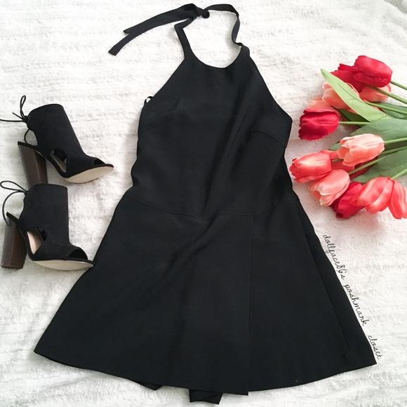 443349e2c2c Banana Republic Pants - Banana Republic Sleek Black Faux Dress Romper
